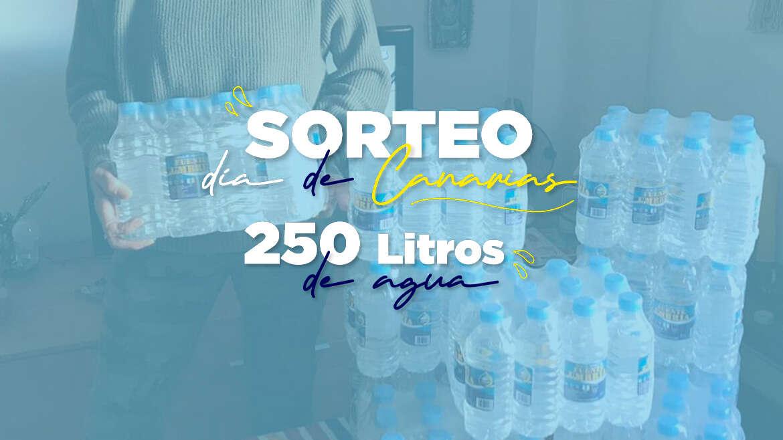 Sorteo Día de Canarias – 250L de agua a domicilio GRATIS